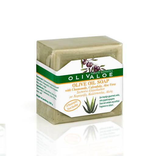 Olivaloe mydło Olive Oil z aloesem, rumiankiem inagietkiem 200g