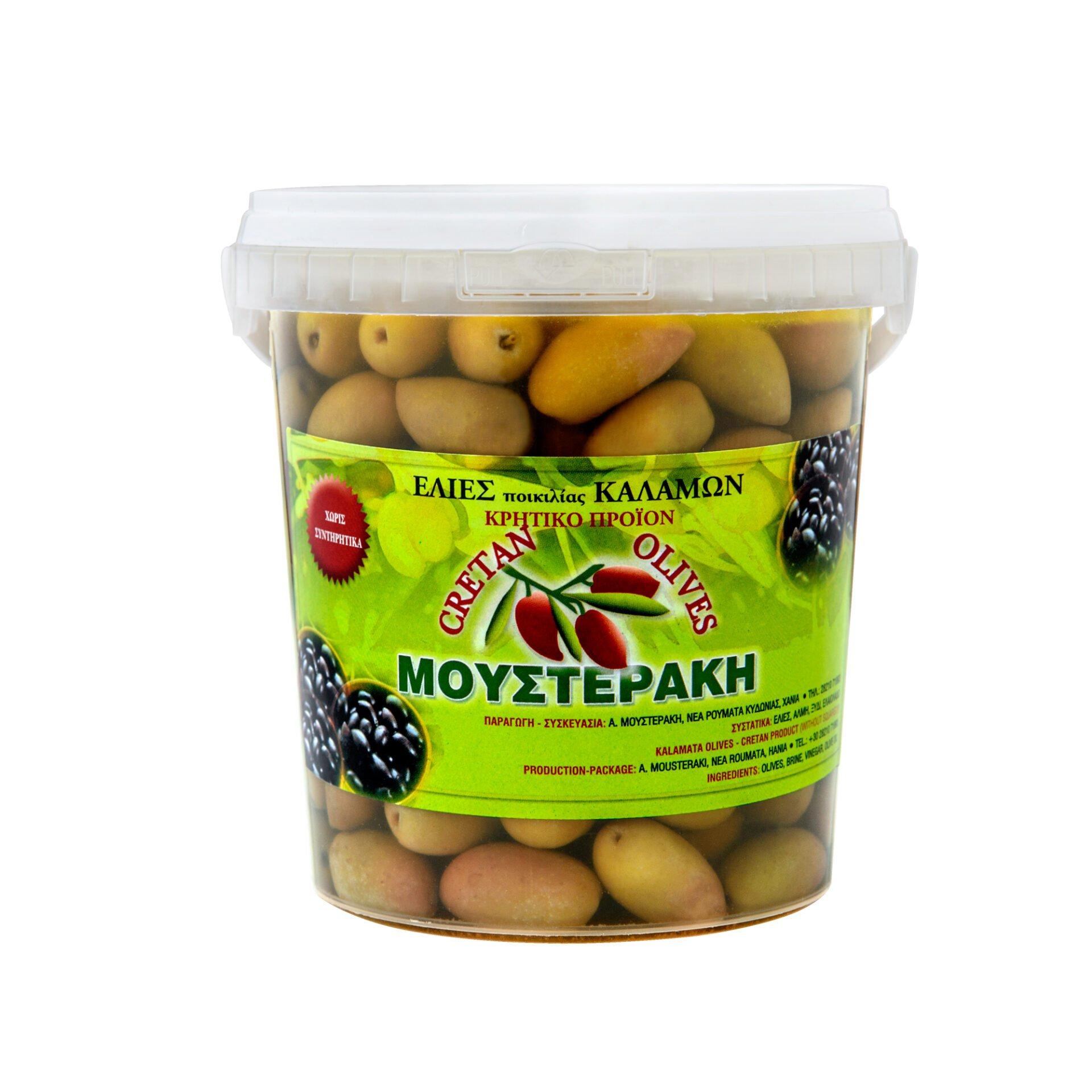 Mousteraki oliwki zielone z pestką 500g